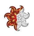 Zentangle stylized Arabic Indian round Mandala vector image