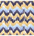 Ethnic seamless pattern - beige blue ikat pattern vector image