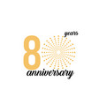 80 year anniversary firework template design vector image vector image
