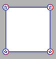 abstract american card frame vector image vector image