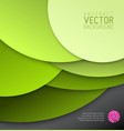 abstract background made from green circles vector image vector image