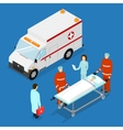 Ambulance Service Concept vector image vector image