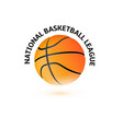 basketball championship logo design national vector image