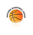 basketball championship logo design national vector image vector image