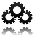 black gearwheel gear symbol maintance repair vector image
