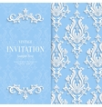 Blue Floral 3d Christmas and Invitation vector image vector image