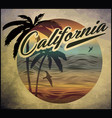 california beach surf club concept summer surfing vector image