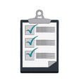 checklist board document vector image vector image