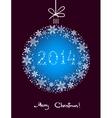 Christmas Snowflakes Ball vector image vector image
