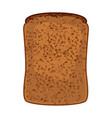 closeup of slice of whole wheat bread isolated vector image vector image