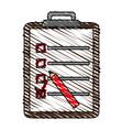 color crayon stripe cartoon clipboard with vector image vector image