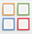 Color frame set on gray wall vector image