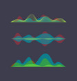 colored sound wave digital equalizer vector image vector image