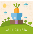 concept of garden pot with vegetables vector image vector image