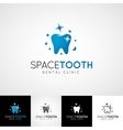 Dental logo template Teethcare icon set dentist vector image vector image