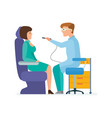 doctor is dentist receives patient in office vector image