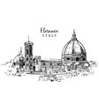 drawing sketch florence italy vector image vector image