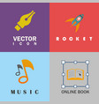 education design logo set vector image vector image