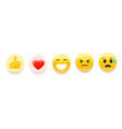 emoji set for social media vector image vector image