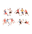 fighting soccer players athletes fight for ball vector image