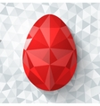 Flat design polygon of Easter egg isolated vector image