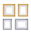 frame set of frames for paintings vector image vector image