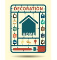 Furniture flat icons home decoration idea concept vector image vector image