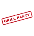 Grill Party Text Rubber Stamp vector image vector image