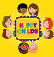 group of happy kids zone characters vector image vector image