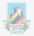 happy eggs easter holiday celebration vector image