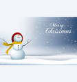 happy new year merry christmas 2019 and snowman vector image vector image