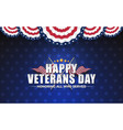 happy vererans day background design with cross vector image vector image