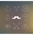 Hipster Stuff vector image vector image