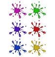 ink blob blot splash symbol icon design beautiful vector image vector image