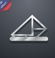 letter envelope mail icon symbol 3D style Trendy vector image
