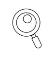 line magnifying glass tool to search and read vector image vector image