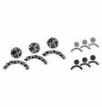 man queue mosaic icon irregular elements vector image vector image