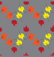 maple leaves seamless orange art background vector image vector image
