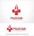 medical lab logo template design emblem design vector image vector image