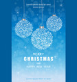 merry christmas snowflakes decorations card in vector image vector image