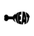 Monochrome meat stylized a silhouette with the vector image vector image