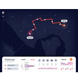 navigation map gps city navigator ui with mapping vector image vector image