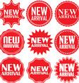 new arrival signs set arrival sticker set