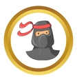 Ninja mascot icon cartoon style vector image vector image