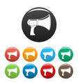 noise of megaphone icons set color vector image vector image