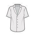 pajama-style shirt technical fashion vector image vector image