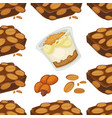 peanut dishes of food or drinks and desserts vector image