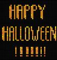 pixel happy halloween vector image vector image