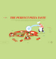 pizzeria bistro website landing page people vector image vector image