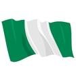 political waving flag of nigeria vector image vector image